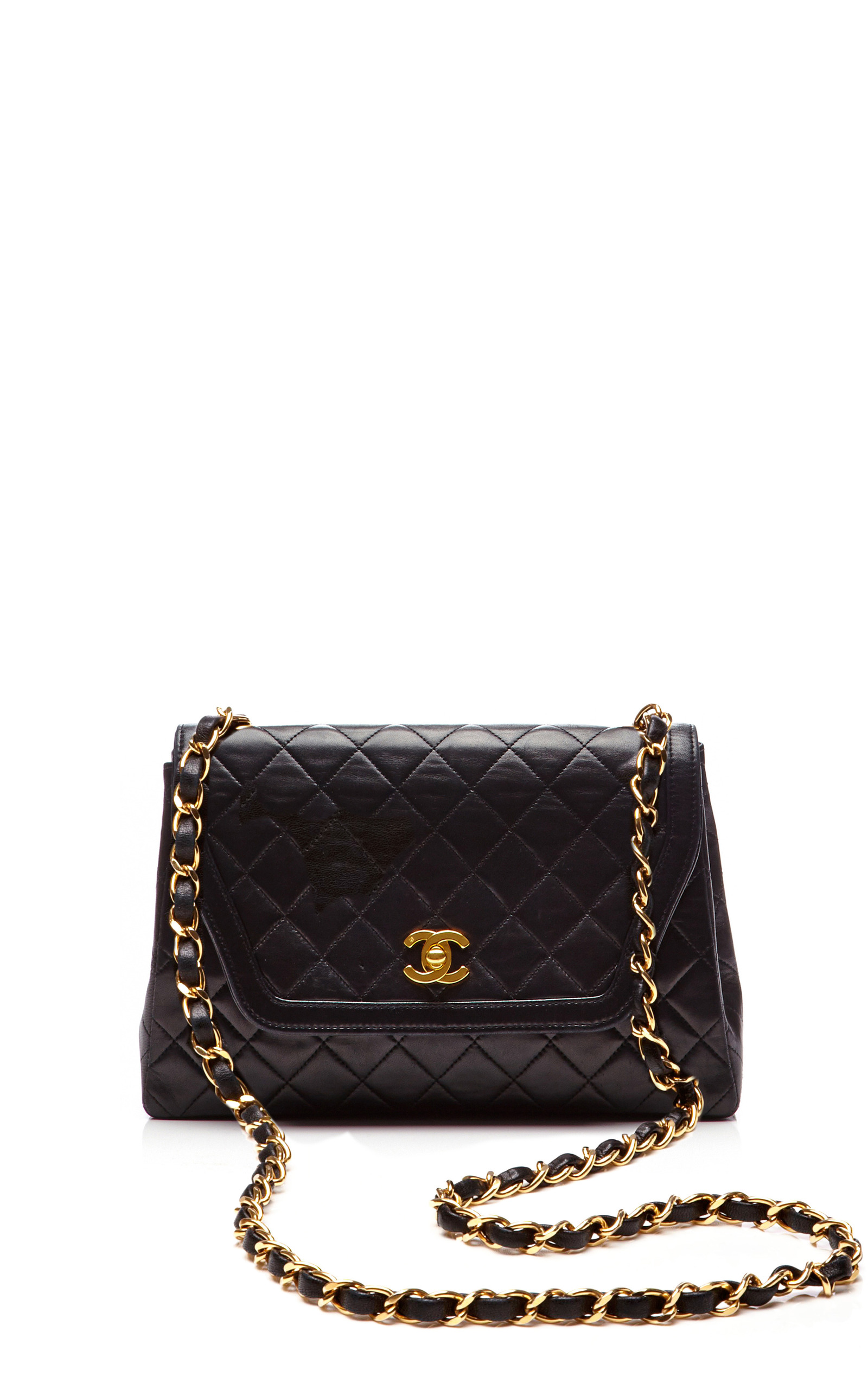 e64cbbca7e6e ... Quilted Lambskin Trapezoid Bag from What Goes Around Comes Around.  CLOSE. Loading