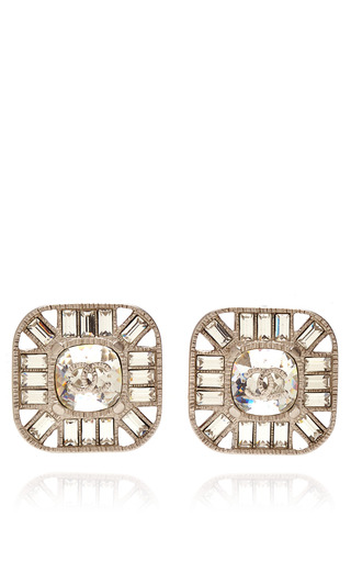 Medium collectible jackets gold chanel square crystal earring from what goes around comes around