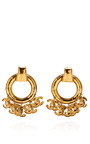 Chanel Large Cc Dangles Hoop Earring From What Goes Around Comes Around by COLLECTIBLE JACKETS for Preorder on Moda Operandi