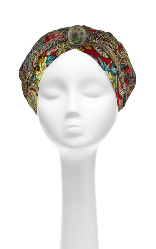 Medium masterpeace red masterpeace vintage wool enamel brooch turban in red