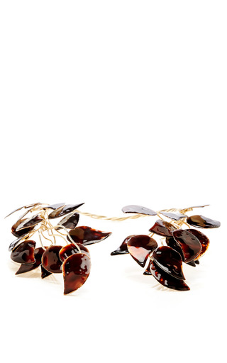Esme Vie Birch Leaves Bronze Necklace by ESME VIE for Preorder on Moda Operandi
