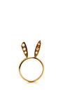 Natasha Zinko 18 K Gold Bunny Ears Ring With Diamonds by NATASHA ZINKO for Preorder on Moda Operandi