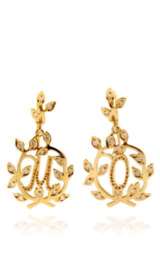 Medium natasha zinko gold natasha zinko customizable 18k gold and white diamond letter earrings