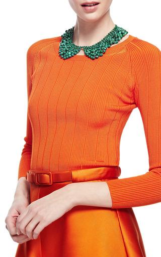 Malachite Bead Czar Collar Necklace by MASTERPEACE Now Available on Moda Operandi
