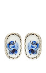 M'o Exclusive: Rose Detail Stud Earrings by MASTERPEACE Now Available on Moda Operandi
