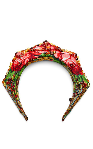 Traditional Fabric And Amber Stone Headpiece by MASTERPEACE Now Available on Moda Operandi