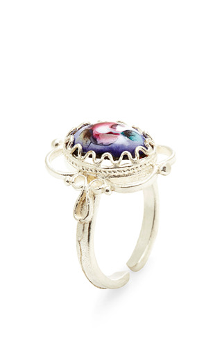 Vintage Rose Detail Ring by MASTERPEACE Now Available on Moda Operandi