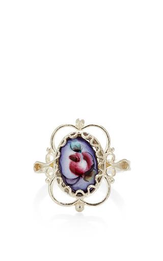 Medium masterpeace blue vintage rose detail ring