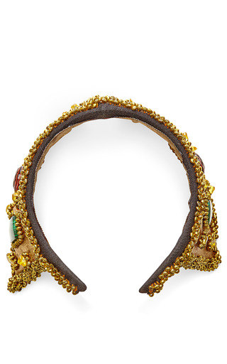 Beaded And Embroidered Czar Headpiece by MASTERPEACE Now Available on Moda Operandi
