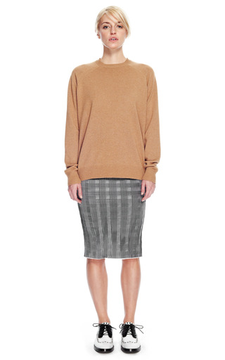 Peel Away Sweatshirt With Sheer Back by ALEXANDER WANG for Preorder on Moda Operandi