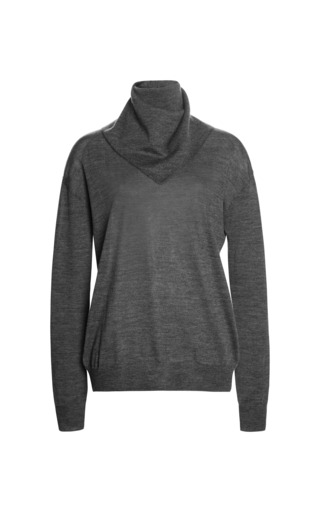 Medium alexander wang dark grey pullover with zip bandana 2