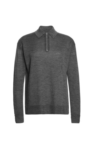 Medium alexander wang dark grey zip polo 3