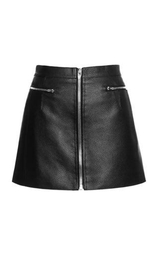 Medium alexander wang black zippered raw edge mini skirt