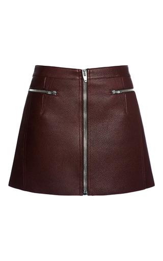 Medium alexander wang red zippered raw edged mini skirt