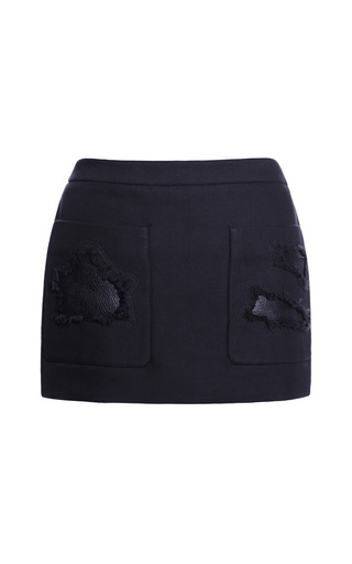 Medium alexander wang blue cropped skirt with distressed pockets