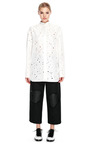Distressed Long Sleeve Top With Back Keyhole Tie by ALEXANDER WANG for Preorder on Moda Operandi