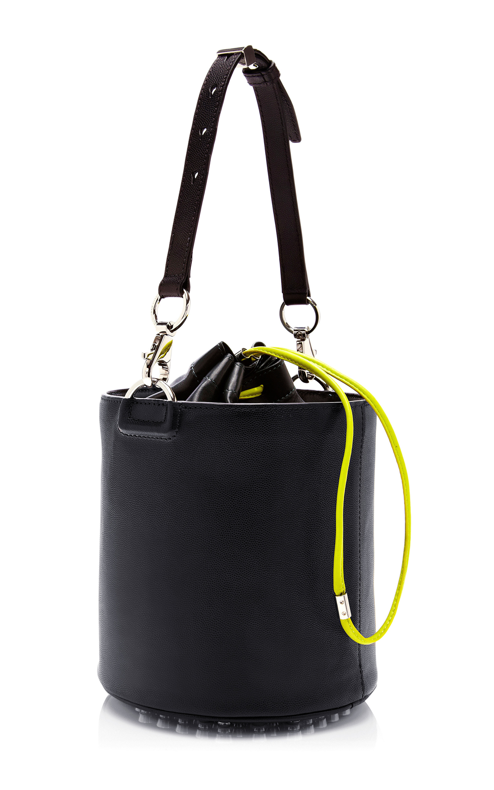 Bucket bags Calling all handbag lovers, the bucket bag is the latest shape to be seen with. Take your pick of the bucket from supple leather styles from LOEWE to vibrant design from J&M Davidson.