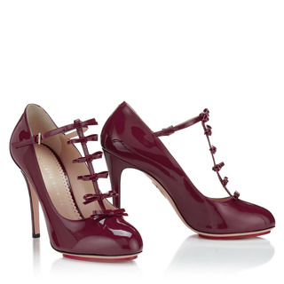 Prissy Mary Jane In Crimson by CHARLOTTE OLYMPIA for Preorder on Moda Operandi