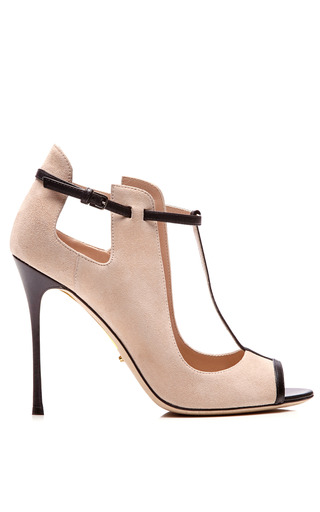 Medium sergio rossi nude emperor pump in nude