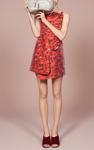 Burnt Red Mirrorball Snap Front Dress by OPENING CEREMONY for Preorder on Moda Operandi