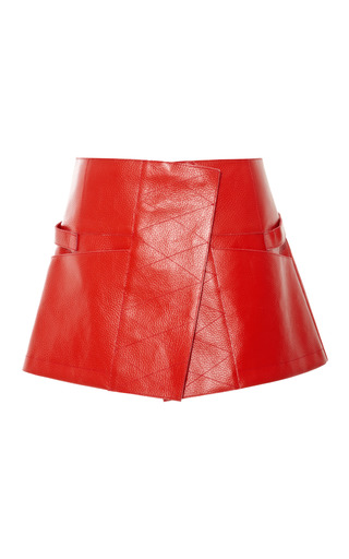 Medium opening ceremony red burnt red toph military skirt