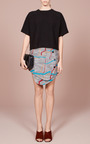 Broken Stripe Front Snap Skirt by OPENING CEREMONY for Preorder on Moda Operandi