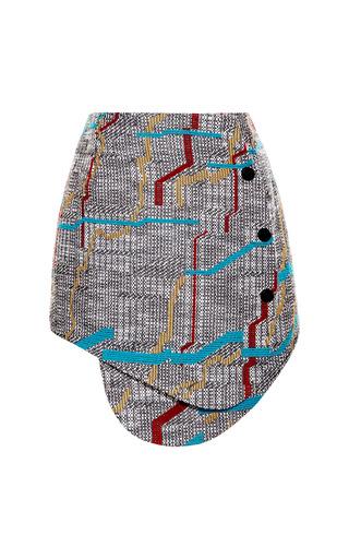 Broken Stripe Front Snap Skirt by OPENING CEREMONY for Preorder on Moda Operandi