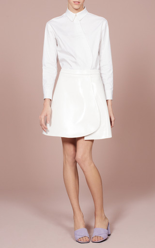 Bone Lacquered Keyhole Skirt by OPENING CEREMONY for Preorder on Moda Operandi