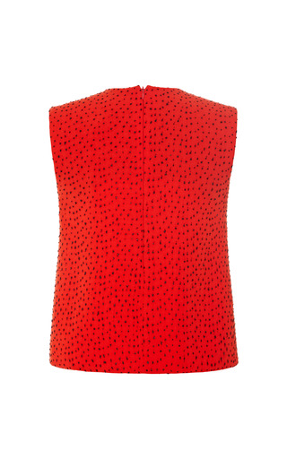 Burnt Red Daza Embellished Kangaroo Top by OPENING CEREMONY for Preorder on Moda Operandi