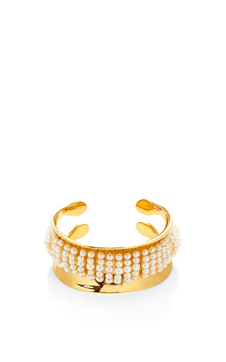 Cheyne Walk 18 K Gold Plated And Pearl Cuff by AURéLIE BIDERMANN Now Available on Moda Operandi