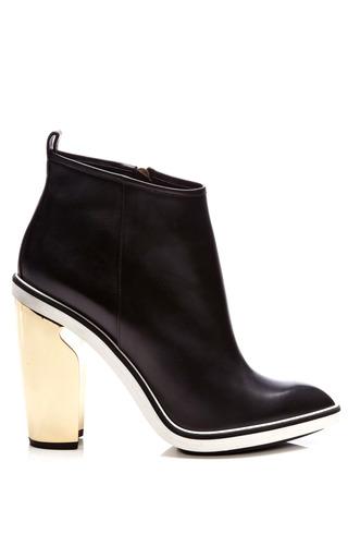Medium nicholas kirkwood black black calf platino heel boot