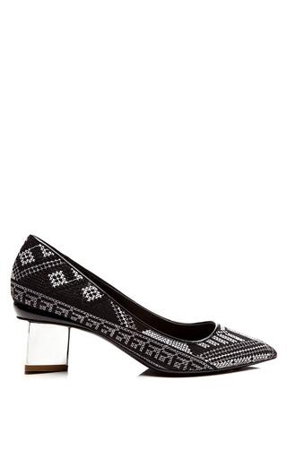 Medium nicholas kirkwood black mexican black needle point white block heel