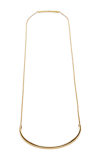 Medium coleoptere gold semi circle necklace