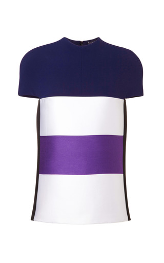 Medium narciso rodriguez multi wool satin stripe top