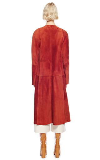 Suede Suiting Long Coat With Asymmetric Placket by PROENZA SCHOULER for Preorder on Moda Operandi