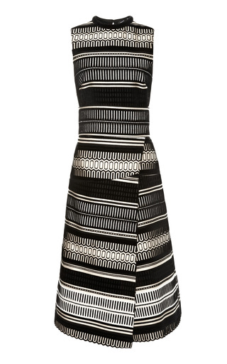 Medium proenza schouler black baja velvet jacquard sleeveless wrap dress