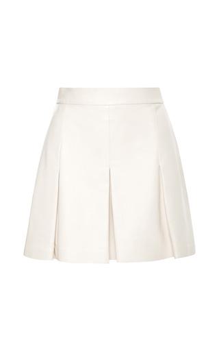 Medium proenza schouler white plonge leather shorts with pleats 2