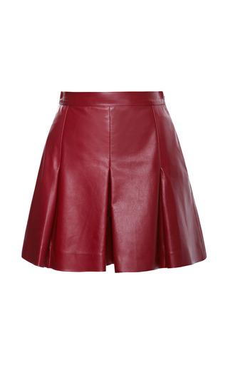 Medium proenza schouler red plonge leather shorts with pleats