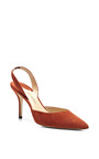 M'o Exclusive: Aw Suede Slingback Pumps by PAUL ANDREW Now Available on Moda Operandi