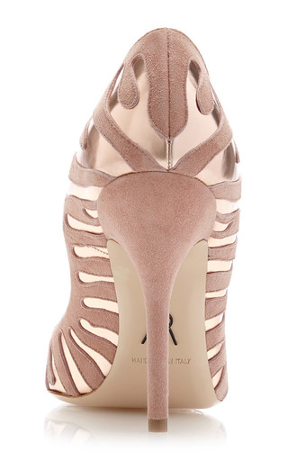 M'o Exclusive: Tigrado Suede And Metallic Leather Pumps by PAUL ANDREW Now Available on Moda Operandi