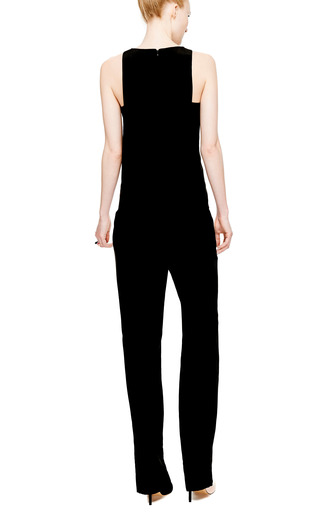 Layered V Neck Silk Jumpsuit by THAKOON ADDITION Now Available on Moda Operandi