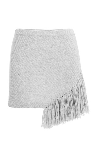 Medium thakoon addition dark grey fringe skirt