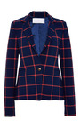 Checked Wrap Back Blazer by THAKOON ADDITION Now Available on Moda Operandi