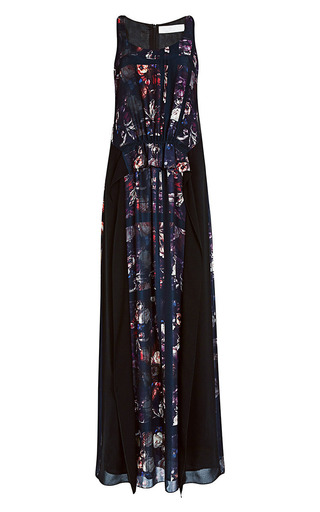Printed Crepe Maxi Dress by THAKOON ADDITION Now Available on Moda Operandi