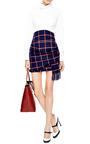 Checked Tassled Mini Skirt by THAKOON ADDITION Now Available on Moda Operandi