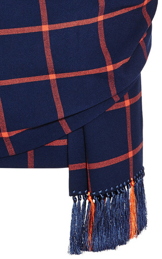 Checked Tassled Mini Skirt by THAKOON ADDITION Now Available on Moda Operandi