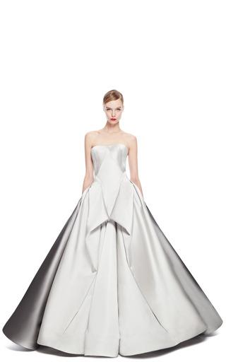 Duchess Satin Strapless Gown by ZAC POSEN for Preorder on Moda Operandi