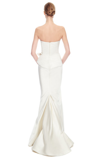 Duchess Satin Strapless Gown by ZAC POSEN for Preorder on Moda Operandi