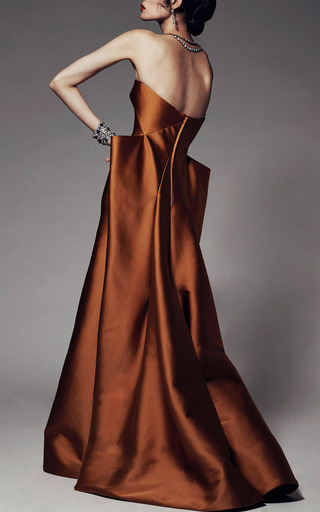 Stretch Duchess Strapless Gown by ZAC POSEN for Preorder on Moda Operandi