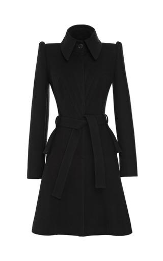 Medium zac posen black cashmere wool coating dress coat